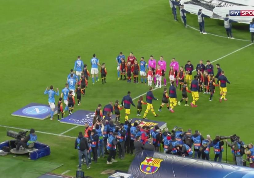 خلاصه بازی ناپولی بارسلونا (1-1)