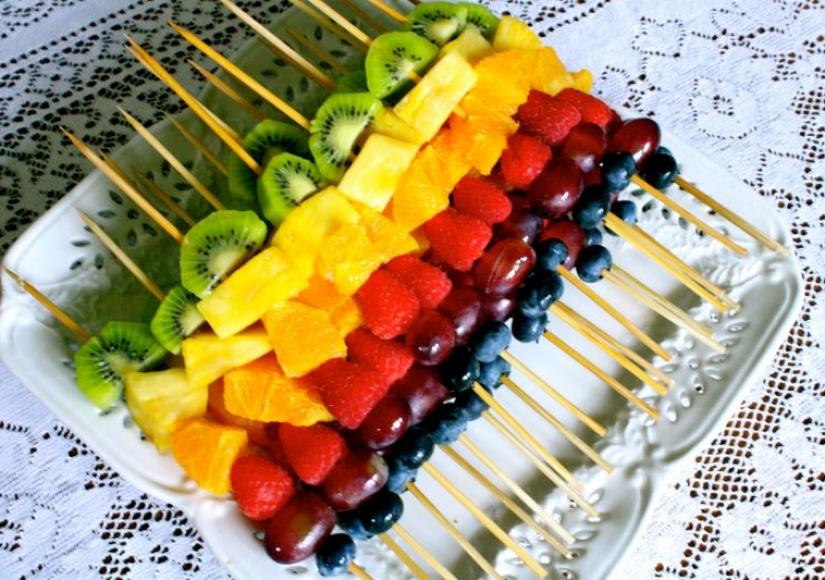 22 روش جالب برای تزئین میوه های مختلف
